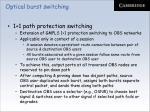 optical burst switching65