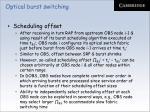 optical burst switching78