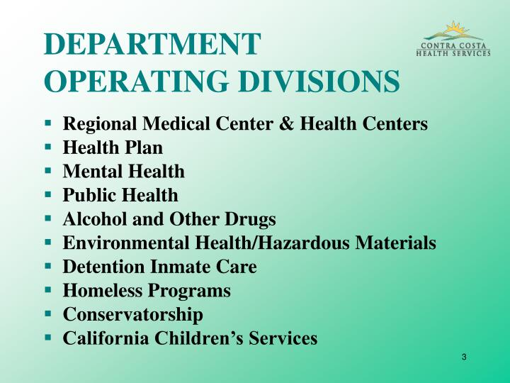 Department operating divisions