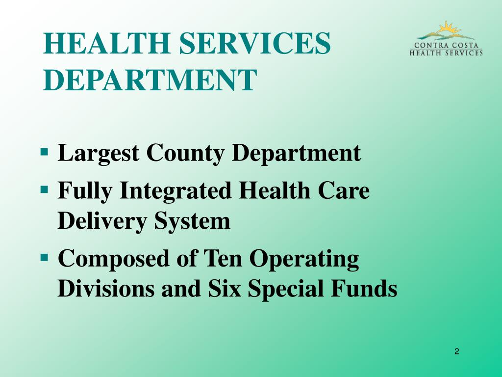 HEALTH SERVICES DEPARTMENT