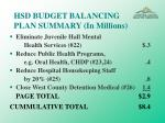 hsd budget balancing plan summary in millions23