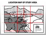 location map of study area