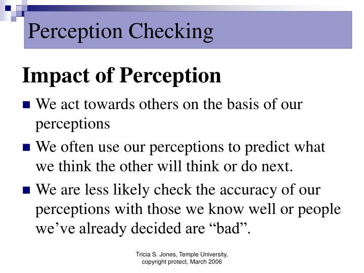 perception cheching Perfecting the art of perception-checking,- dr david marriage help and advice.