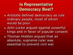 is representative democracy best