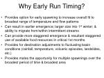 why early run timing