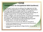 cose collaboration for occupational skills excellence