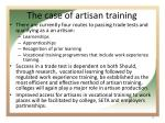 the case of artisan training