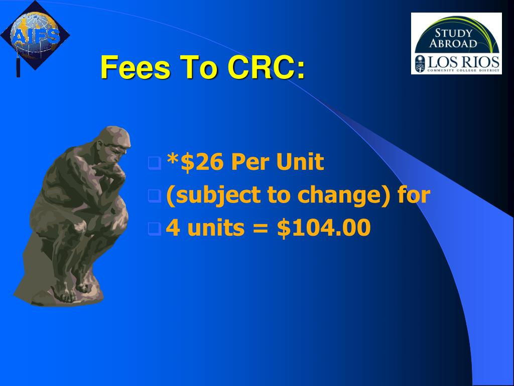 Fees To CRC: