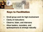 keys to facilitation