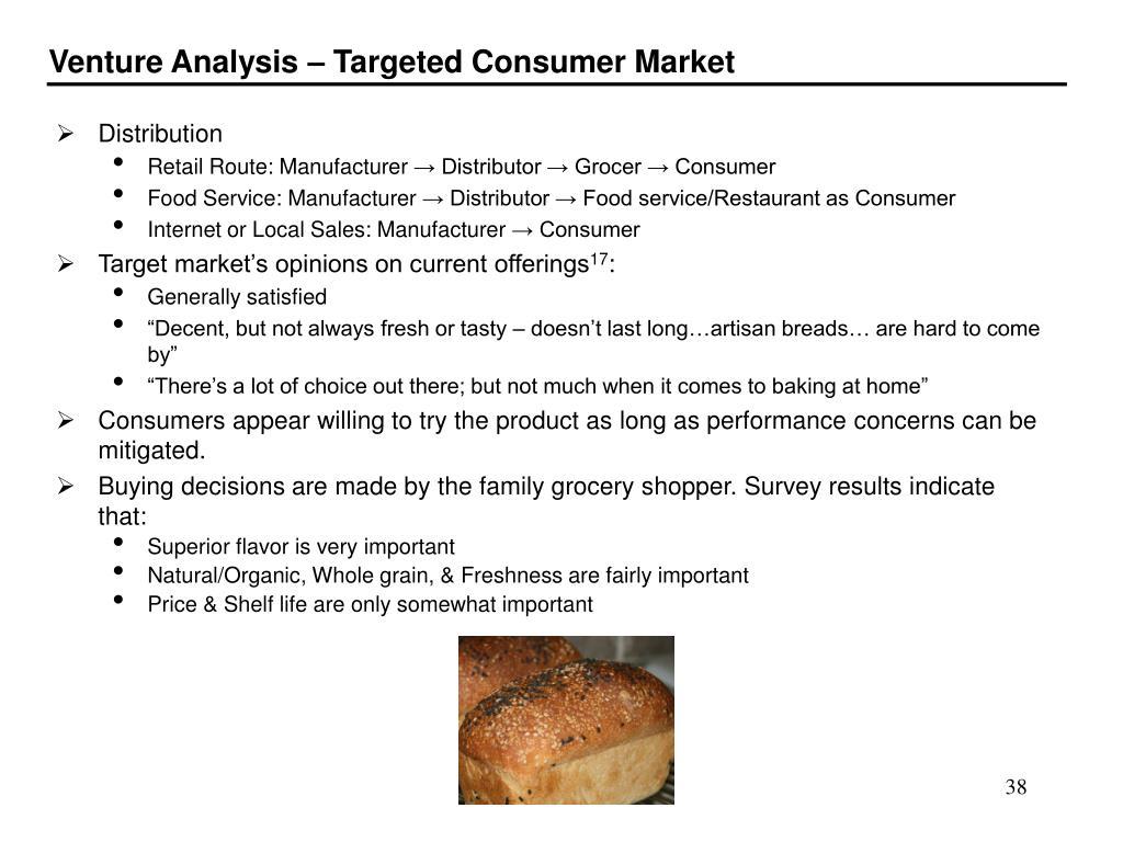 Venture Analysis – Targeted Consumer Market