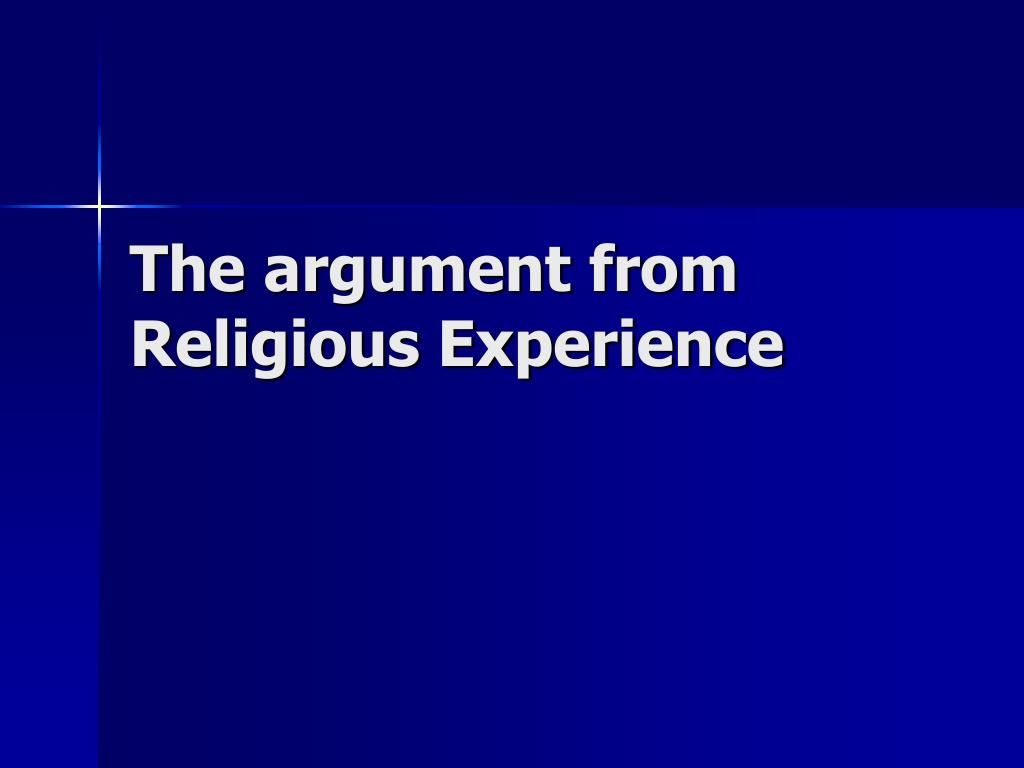 the argument from religious experience l.