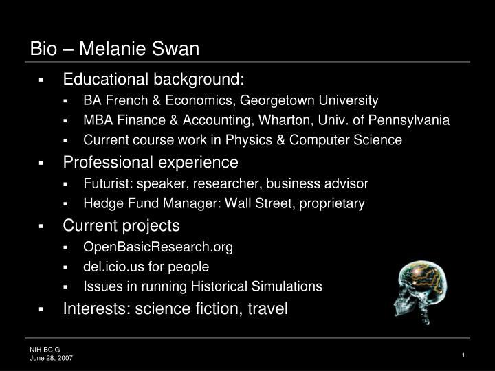Bio melanie swan