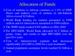 allocation of funds