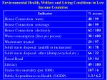 environmental health welfare and living conditions in low income countries