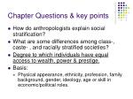 chapter questions key points
