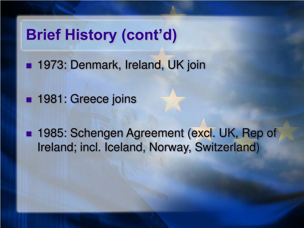 Brief History (cont'd)