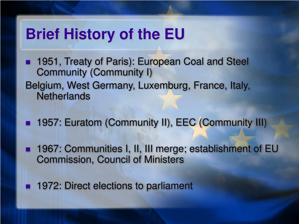 Brief History of the EU