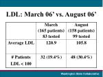 ldl march 06 vs august 06