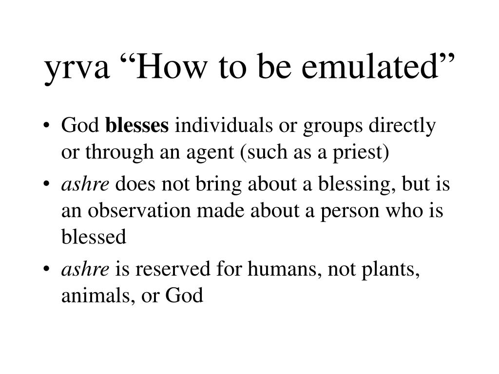 yrva how to be emulated l.