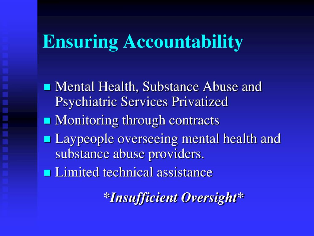 Ensuring Accountability