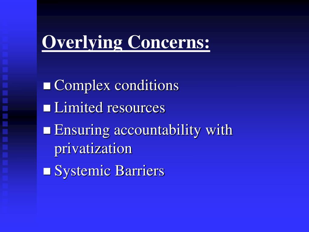 Overlying Concerns: