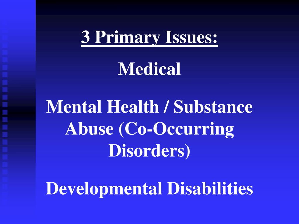 3 Primary Issues: