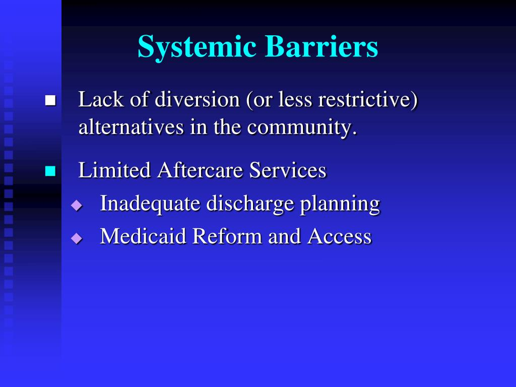 Systemic Barriers