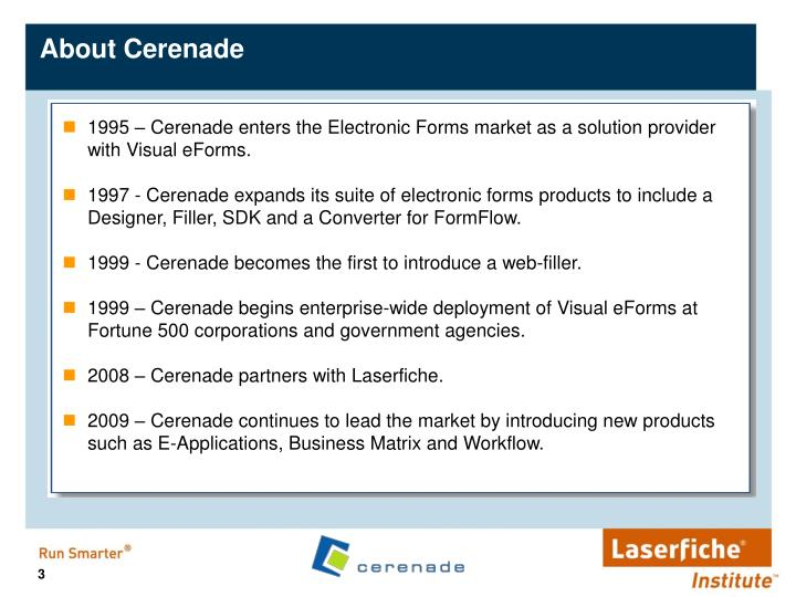 About cerenade