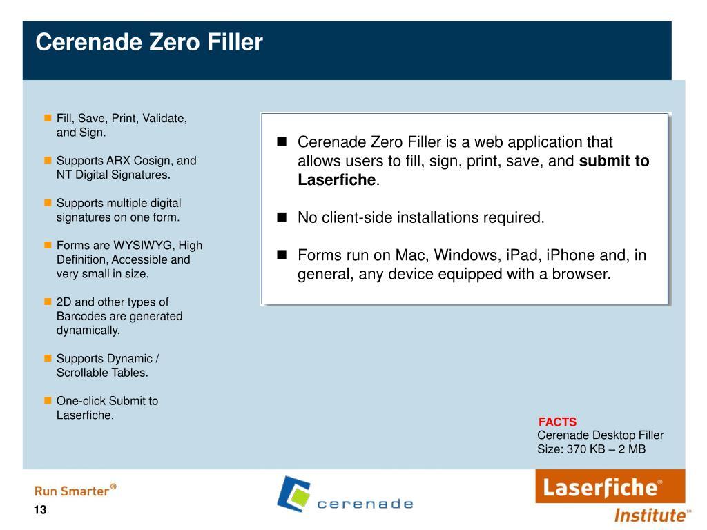 Cerenade Zero Filler