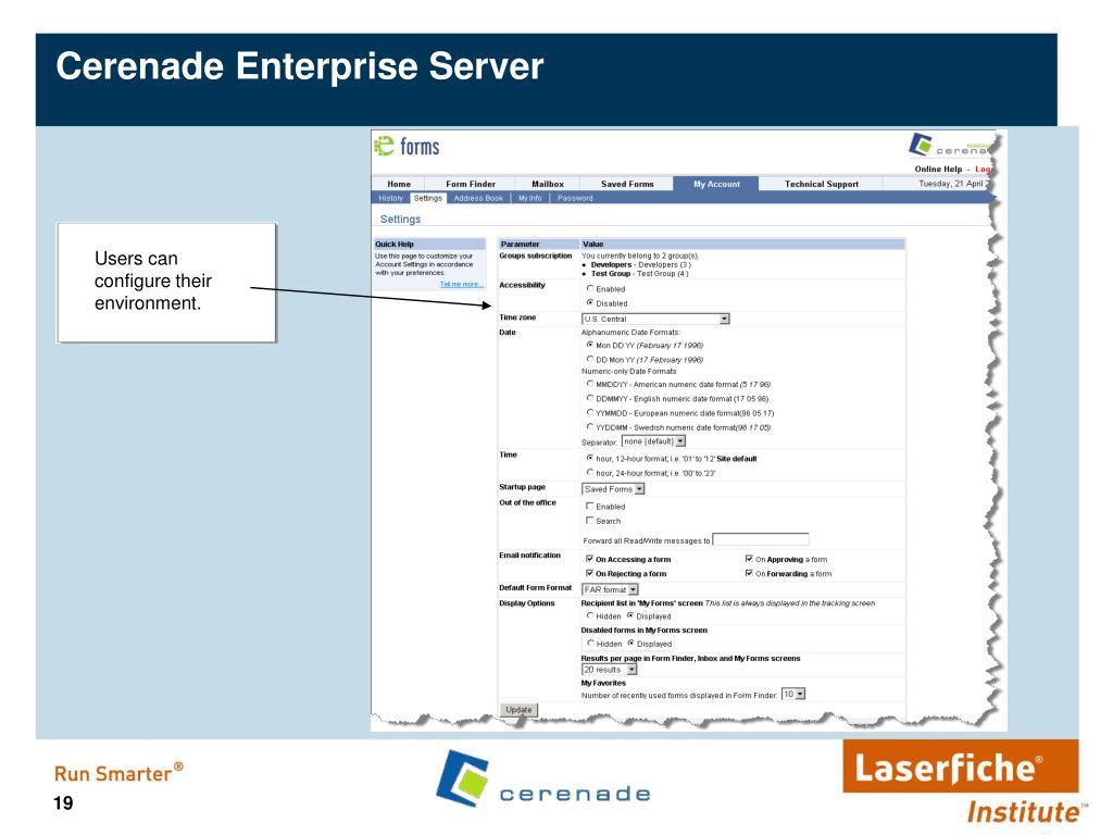 Cerenade Enterprise Server