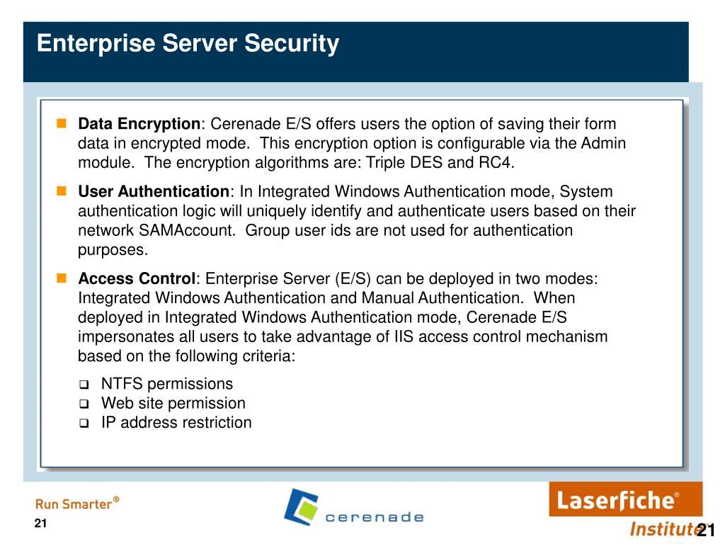 Enterprise Server Security