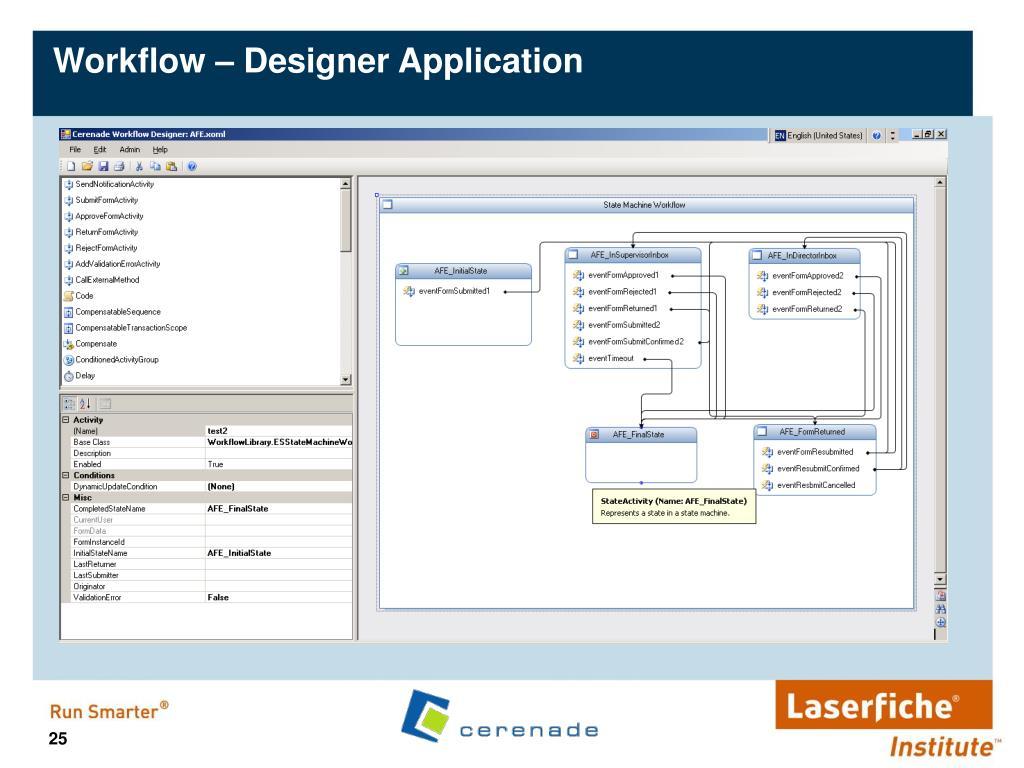 Workflow – Designer Application