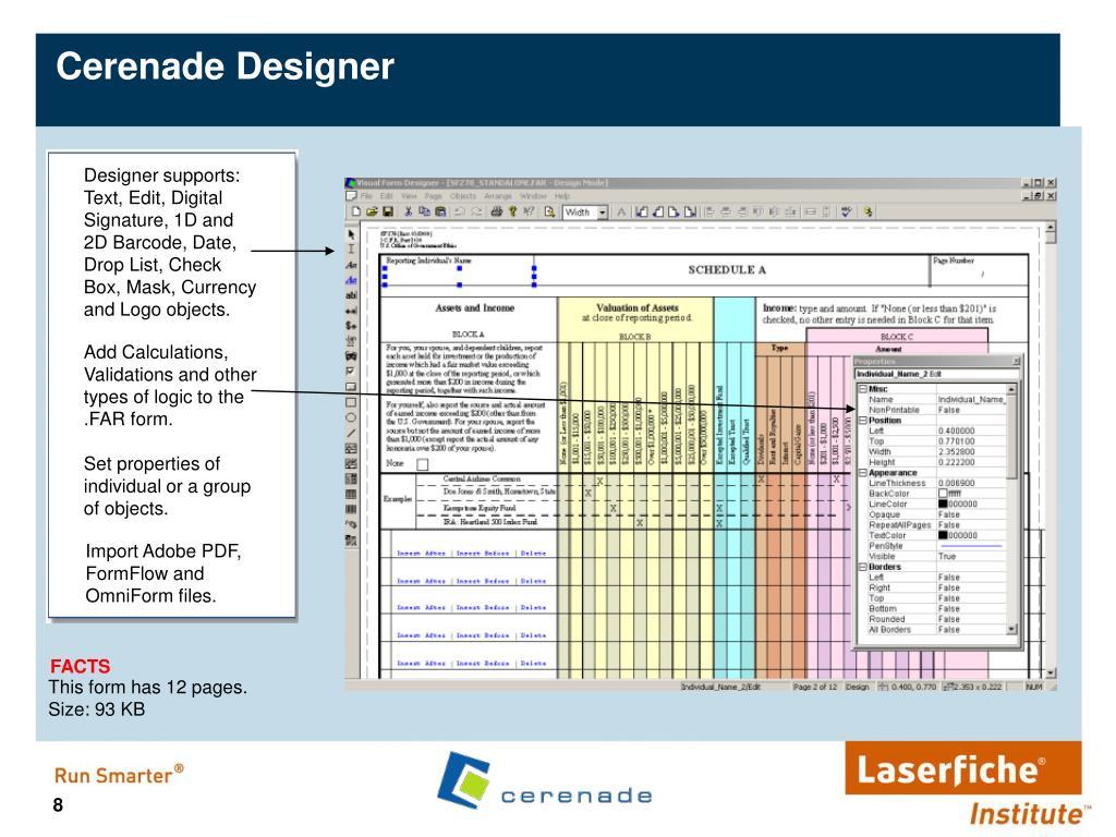 Cerenade Designer