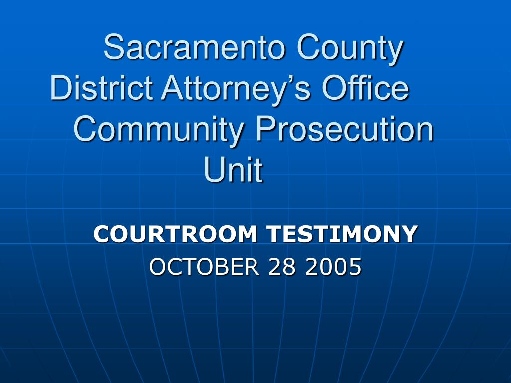 sacramento county district attorney s office community prosecution unit l.