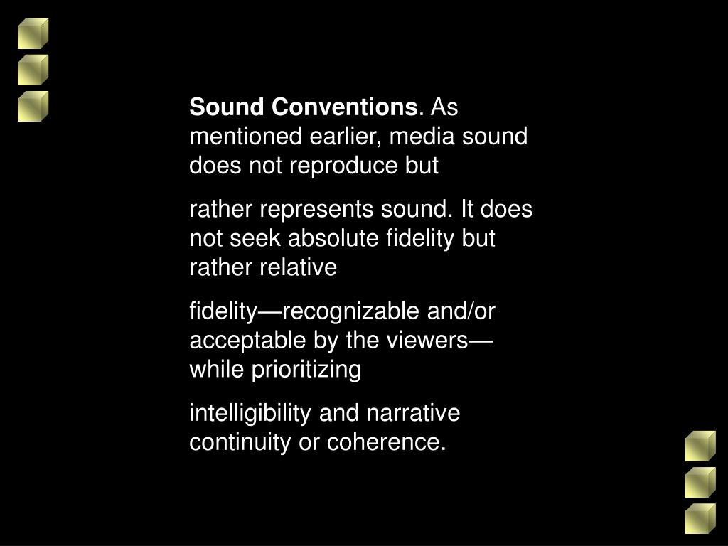 Sound Conventions