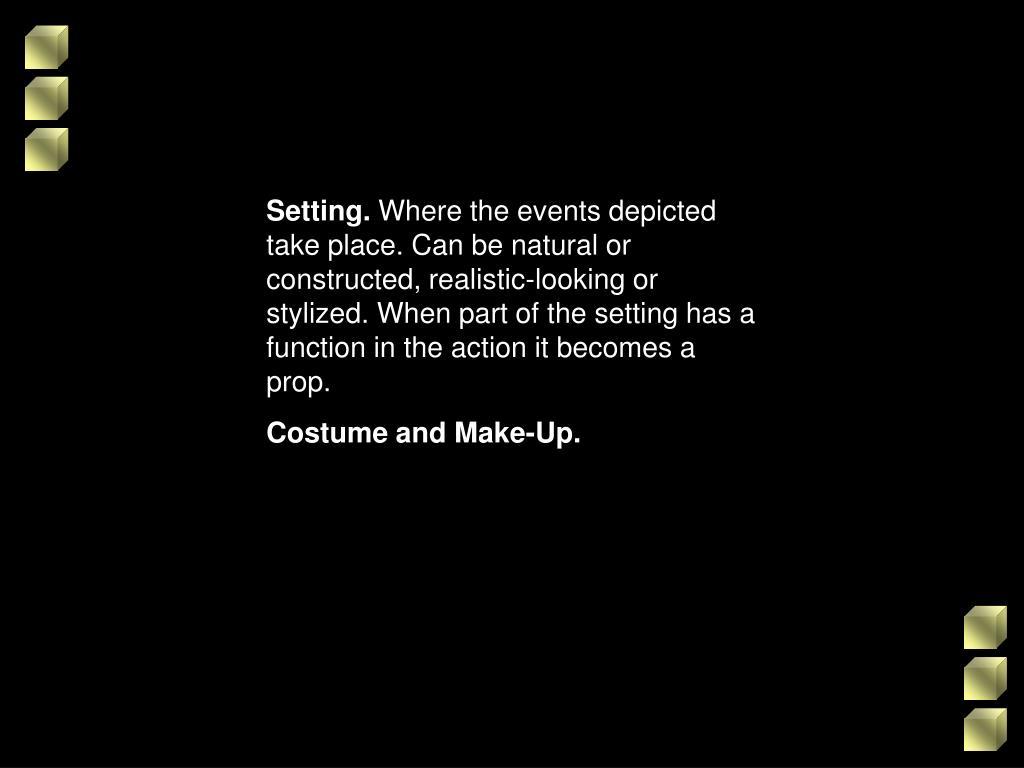 Setting.