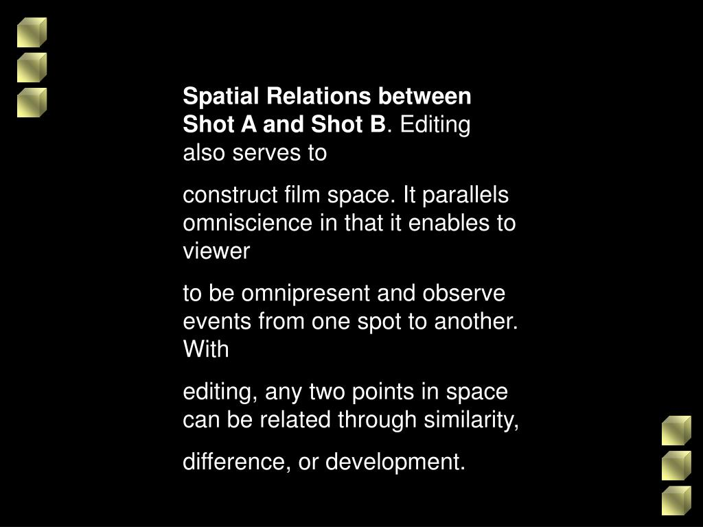 Spatial Relations between Shot A and Shot B