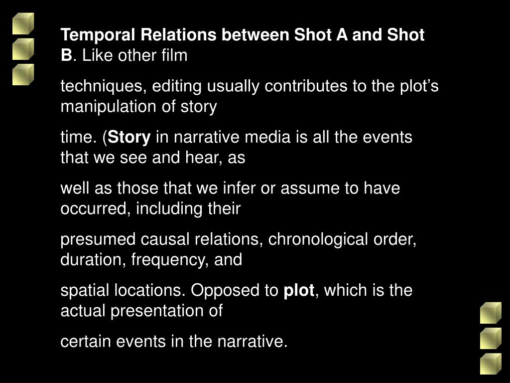 Temporal Relations between Shot A and Shot B