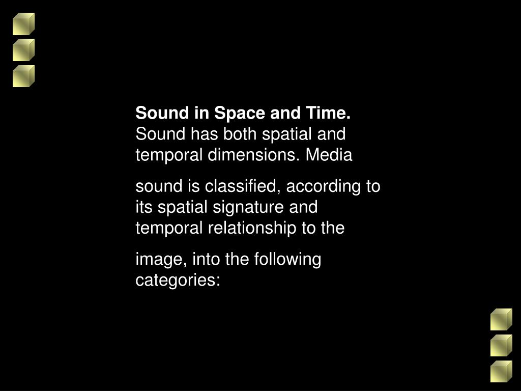 Sound in Space and Time.