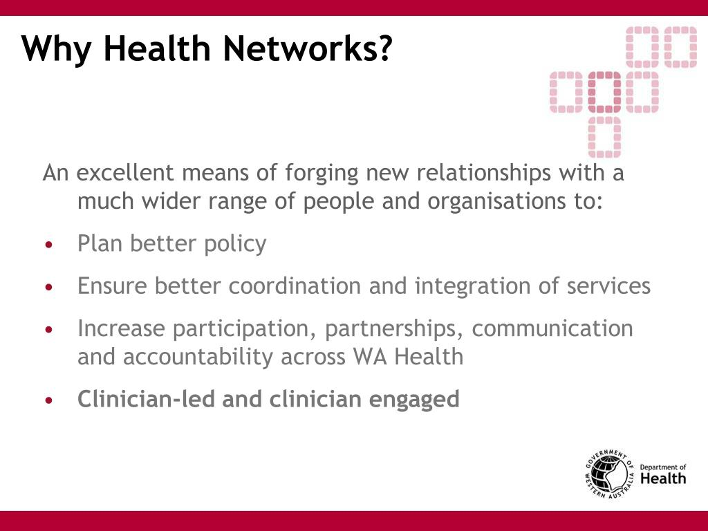 Why Health Networks?