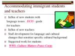 accommodating immigrant students and teachers