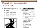 content elevate composition in the arts