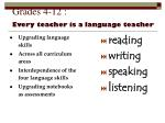 grades 4 12 every teacher is a language teacher