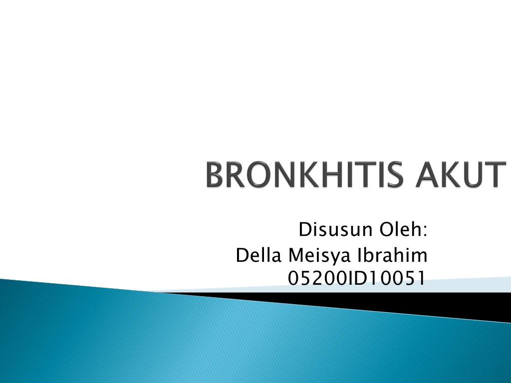 bronkhitis akut l.
