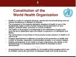 constitution of the world health organization