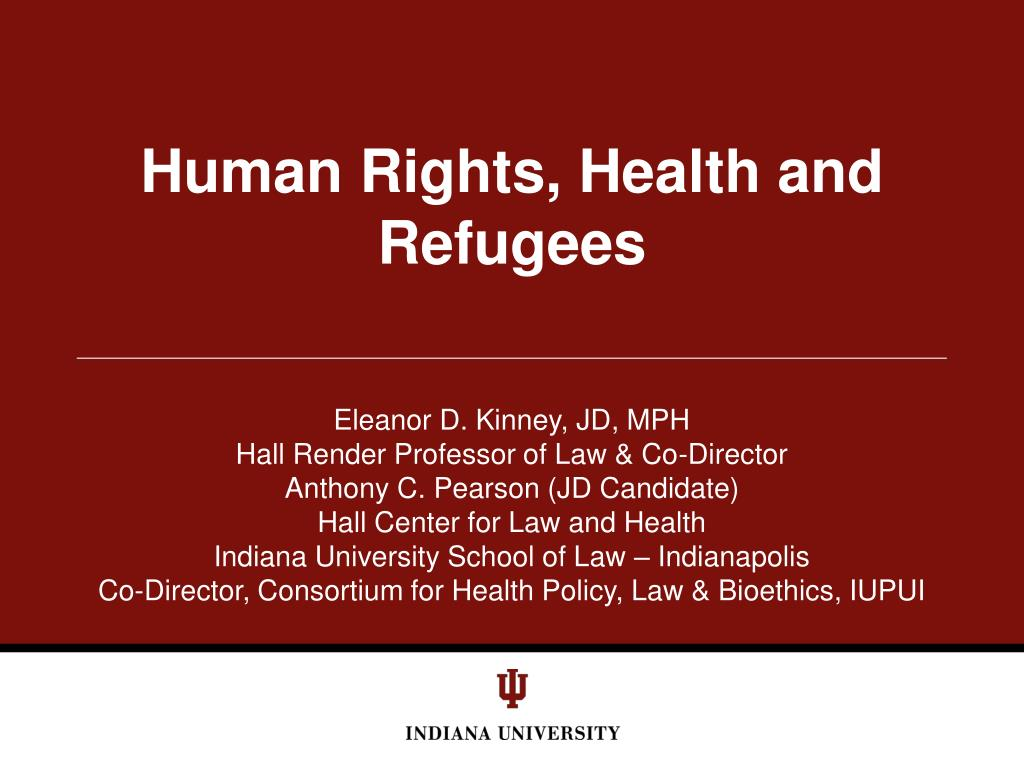 human rights health and refugees l.