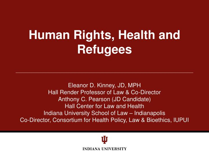 human rights health and refugees n.