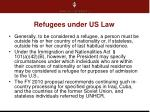 refugees under us law