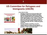 us committee for refugees and immigrants uscri