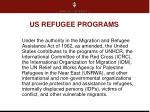 us refugee programs